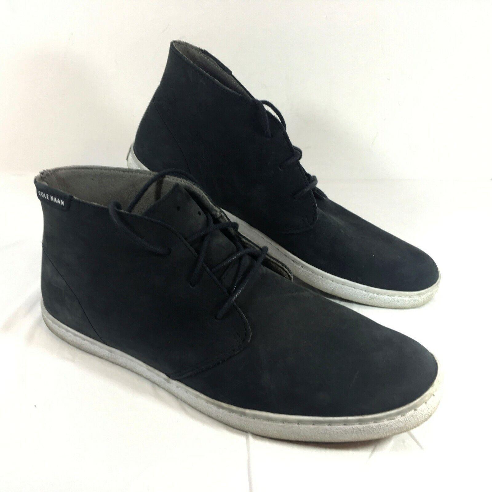 GUC Para Hombres Cole Haan Grand o 's pizca de Cuero Negro botas al Tobillo Chukka M