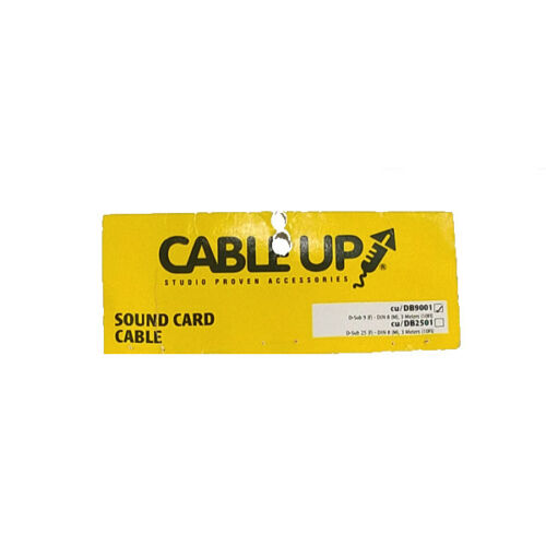 Cable Up CU//DB9001 10/' D-SUB 9 Female to DIN 8 Male Sound Card Cable