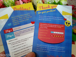 5 Stars Service Rating Cards 100pcs Thank You For Your Purchase Card