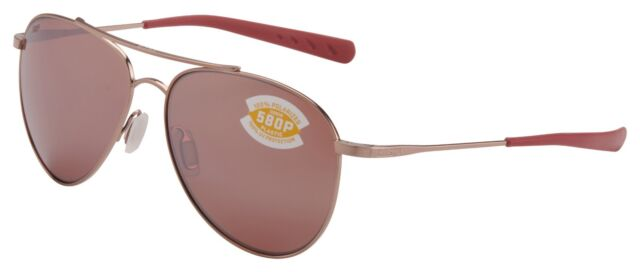 ace65c14a33 Costa Del Mar Cook Sunglasses COO-164-OSCP Rose Gold 580P Copper Polarized  Lens