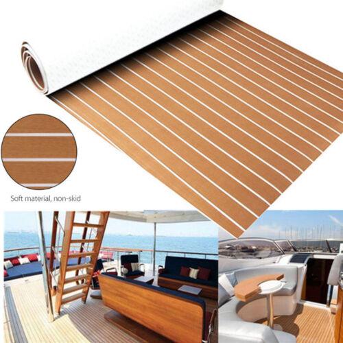 "2.2/""x94/"" EVA Faux Teak Decking Mat For Boat Marine Flooring Sheet Grey"