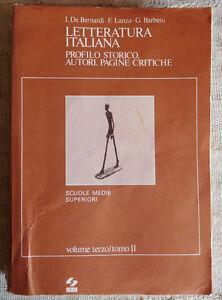 Lettaratura-italiana-vol-3-tomo-II-De-Bernardi-Lanza-Barbero-SEI-ed-1978
