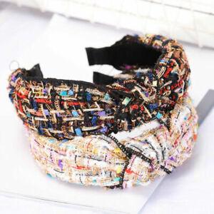 Tie-Chic-Headband-Hoop-Accessories-Fabric-Hair-Bands-Cross-Women-039-s-Knot-Hairband