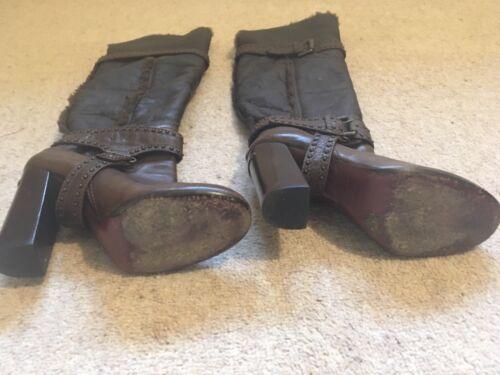 pelle ginocchio Chocolate Karen al Vgc Millen in sopra Foderato stivali Brown 4 gli 37 qXfpxZX