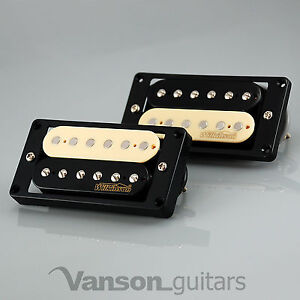NEW-Wilkinson-039-HOT-039-ZEBRA-Humbucker-Pickup-SET-for-Gibson-Epiphone-MWHZ-BK