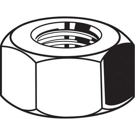 """FABORY U51160.050.0002 1//2/""""-20 Plain Finish 18-8 Stainless Steel Hex Nuts 25"""