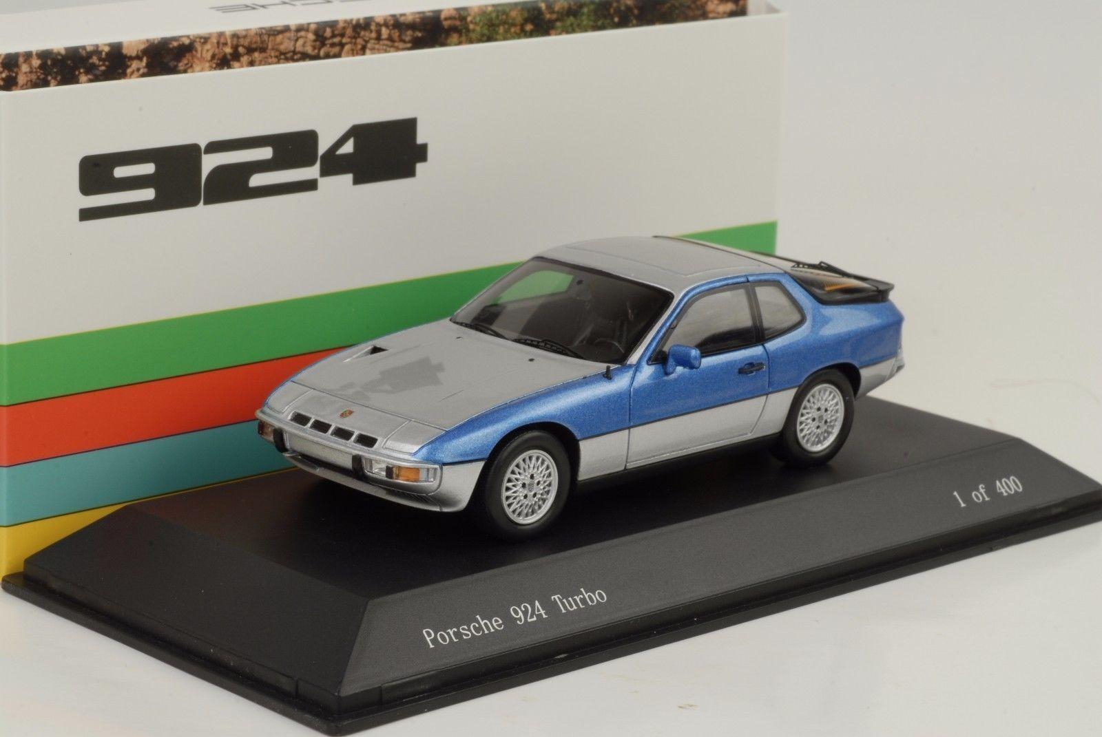 Porsche Turbo 924 1977 blu argento 1 43 Spark museo