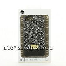 "Hex Focus Leather Slim Case Cover Skin for iPhone 7 4.7"" Black/White Stingray"