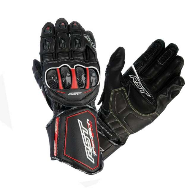 RST TRACTECH EVO CE 2579 LEATHER MOTORCYCLE GLOVES MOTORBIKE GLOVE BLACK