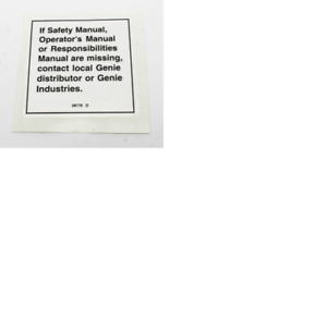 28176GT DECAL NOTICE MANUAL NOT HERE GENIE 28176