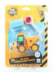 My 1st JCB On Site DOUG DUMPTRUCK bulldozer toy construction vehicle digger NEW!