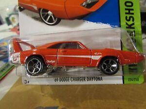Hot Wheels 69 Dodge Charger Daytona Hw Workshop Red Ebay