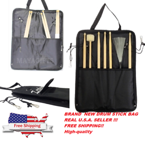 Details About Drum Stick Bag Percussion For Brushes Rods Mallets And Sticks New