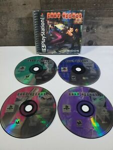 Fear-Effect-Sony-PlayStation-1-2000-no-manual-TESTED-4-Disc-039-s-Great-Game