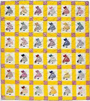 Sunbonnet Sue's Garden Scrap, Applique & Block Vintage Quilt Pattern