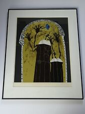 JOZE CIUHA LEGEND OF THE THIRD COLLAGE LITHOGRAPH SOLVENIA ABSTRACT PENIS EROTIC