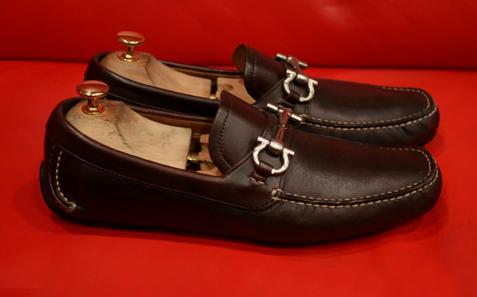 749.00 SALVATORE FERRAGAMO braun BITS DRESS SLIP-ON LOAFER Größe schuhe Größe LOAFER 7.5 D 97b7fd