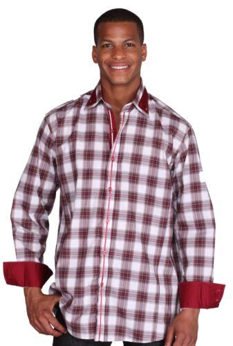 Men/'s High Fashion Cotton Blend Dress Shirts Checks Desigen By George AH 607
