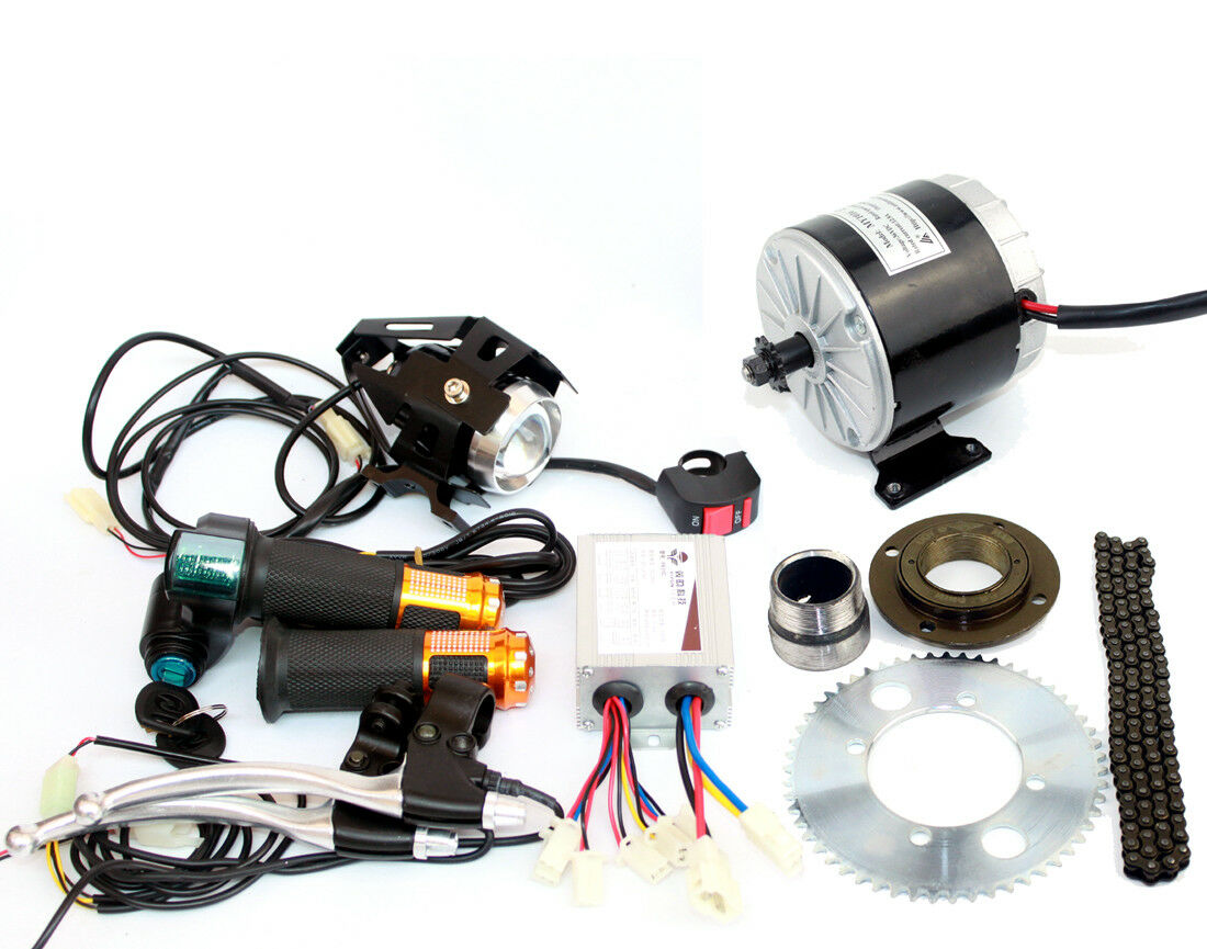 24V36V  350W Electric Scooter Brush DC Motor Kit MY1016 Engine With 25H Chain  get the latest