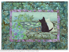 Art Quilt Pattern ~ WIND IN THE WHISKERS - DON'T BE KOI~ Block 7 PINENEEDLES