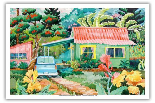 Kauai Dreams Tropical Hawaii Robin Wethe Altman Watercolor Painting Print