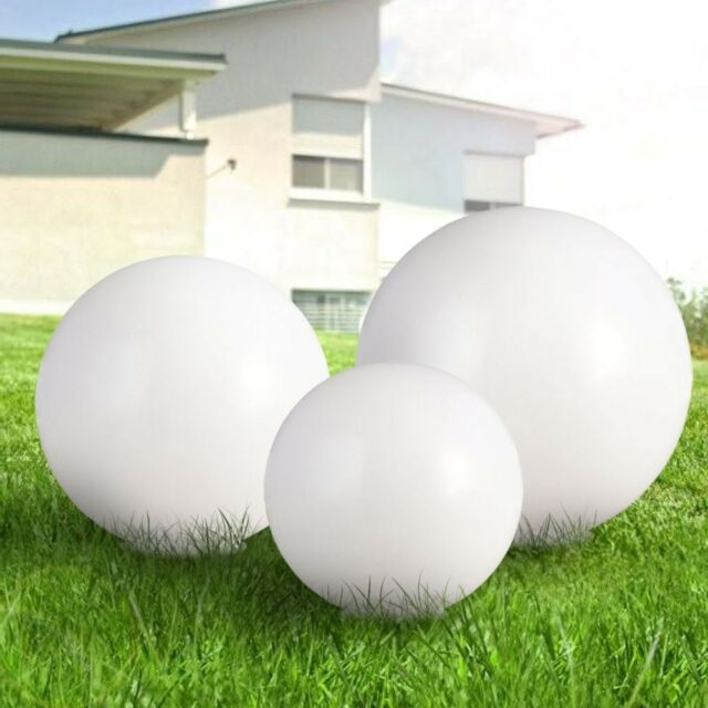 3er Set Led Plug Lights Solar BALLS White Garden Decoration Lighting Outdoor
