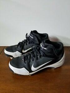Details about Nike Air Huarache Boy's / Men's Metal Baseball Cleats - Size 8 1/2 Black/White