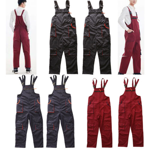 Unisex Workwear Coverall Work Bib Overall Uniform Pants Tousers XXL XXXL