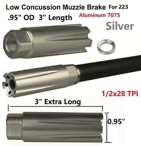 Stainless Steel 1//2X28 TPI Competition Muzzle Brake F Ruger 1022 10//22 Threaded
