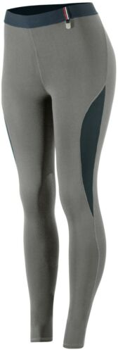 Horze Women/'s Ladies Steel Gray Silicone Knee Patch English Riding Breeches SALE