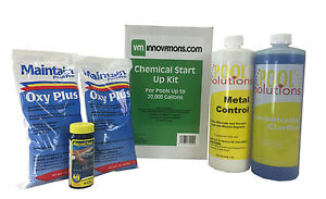 Swimming Pool Spring Start Up Chemical Opening Kit Pools Up To 20 000 Gallons Ebay