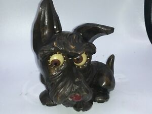 Rare-OSWALD-SCOTTIE-ROLLING-EYE-CLOCK-Works-Great-Condition