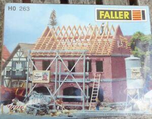 Faller-260-H0-Zweifamilienhaus-im-Bau-neuwertig-in-OVP-werkseitig-ausverkauft