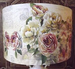 Pink rose lampshade shabby chic lamp shade vintage cream blush free image is loading pink rose lampshade shabby chic lamp shade vintage aloadofball Choice Image