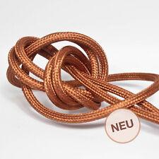 3m 3x1,5mm² Premium Design Textilkabel Kupfer Top EU Qualität Stoffkabel