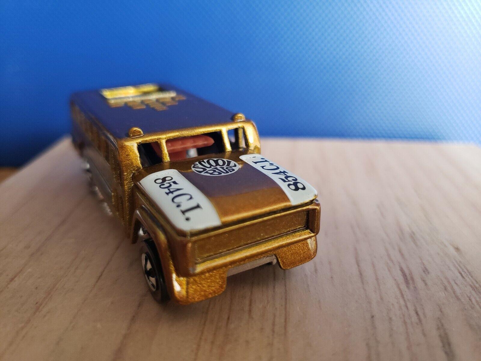 HOT WHEELS REDLINE METALLIC HONEY gold S'COOL BUS VINTAGE COLLECTION.