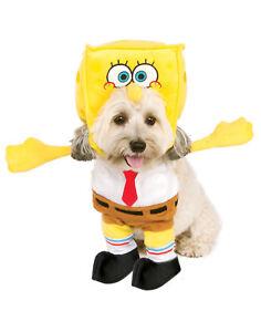 Image is loading Spongebob-Squarepants-Pet-Dog-Cat-Walking-Halloween-Costume  sc 1 st  eBay & Spongebob Squarepants Pet Dog Cat Walking Halloween Costume   eBay