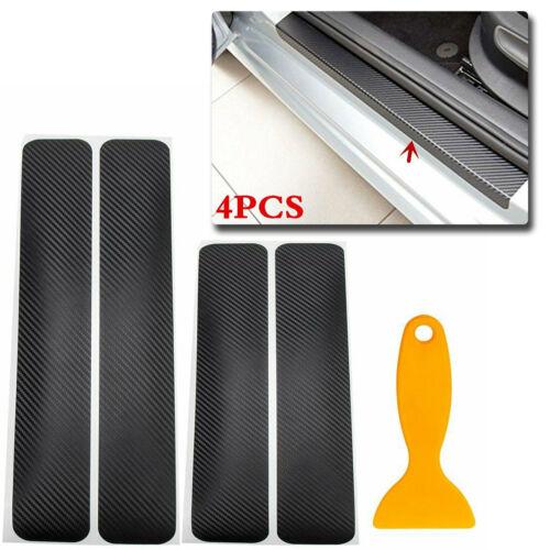 4pcs Carbon Fiber Car rear bumper trunk Door Pedal Sticker Protect Accessories