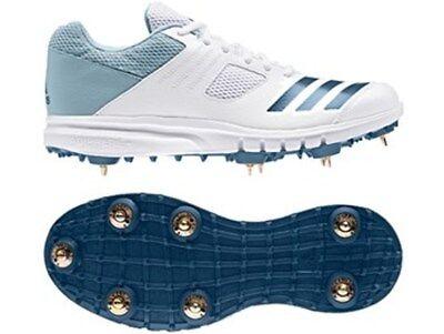 2019 adidas Howzat Junior Spike White Blue Cricket Shoes Size UK 1 6 | eBay
