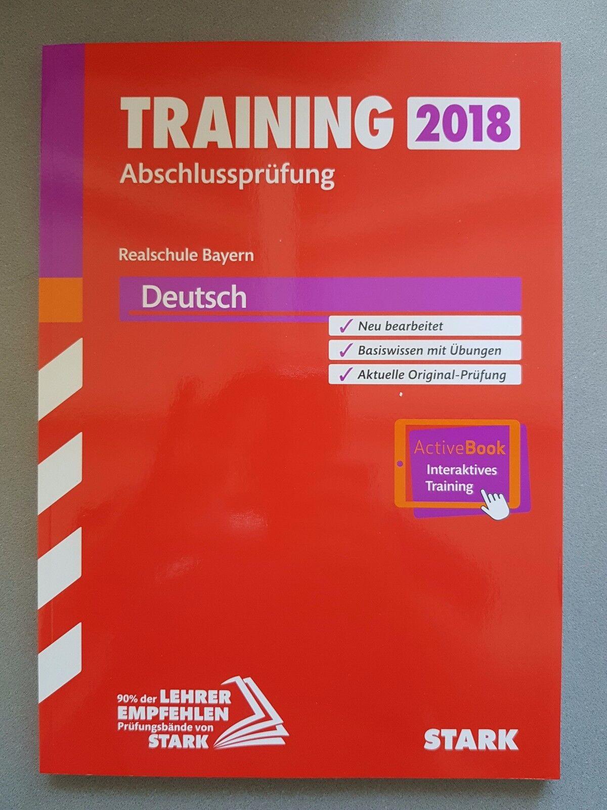 Training Abschlussprüfung 2018 Realschule Bayern