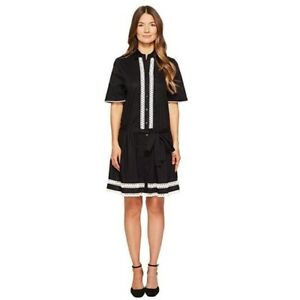 Kate-Spade-Broome-Street-Lace-Inset-Shirt-Dress-size-Small-NWT-258