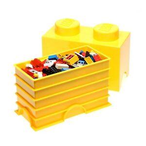 lego stockage brique 2 jaune jouets pour enfants boite de rangement salle jeux ebay. Black Bedroom Furniture Sets. Home Design Ideas