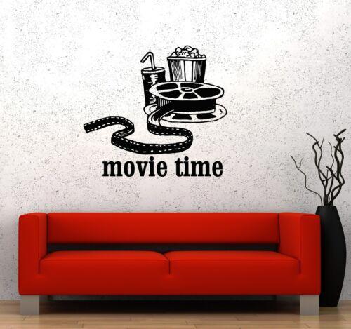 Vinyl Decal Movies Cinema Film Popcorn Room Decor Wall Stickers Mural ig3342