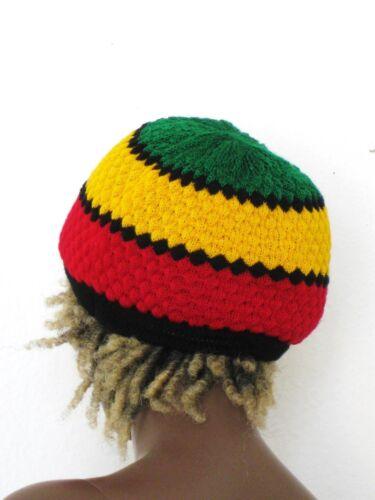 Rasta Strick Mütze/_Knitted Hat/_Scull Cap/_Reggae Hippie