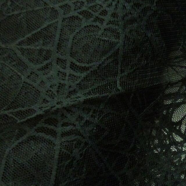 Black Spiderweb Lace Net Halloween Fabric *Per Metre