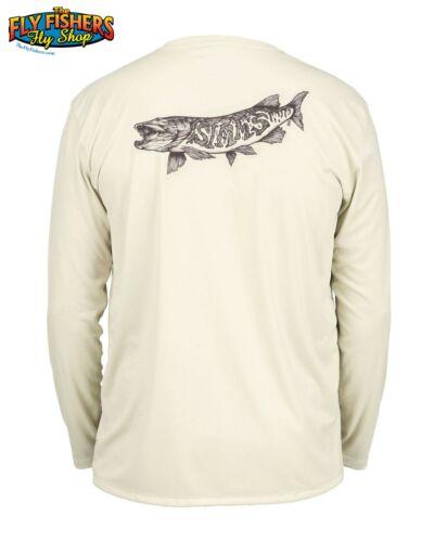 Simms Fishing Solar Tech Tee LS Shirt NEW DISCOUNTED XL Simms Muskie Sand