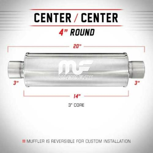 """Magnaflow Exhaust Muffler 3/"""" In Out 4/"""" Round Free Shipping 14419"""