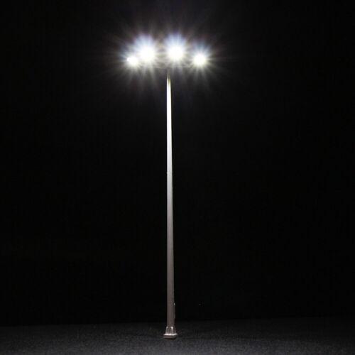 4Stk Modellbahn Spur N//h0 Platz Lampe 4 leds 9cm//15cm Spielfeld Straße Licht
