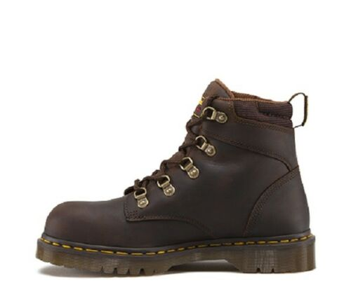 Mens US Size 6 7 8 9 10  Doc Dr Martens HOLKHAM SD Steel Work Brown Black Boot