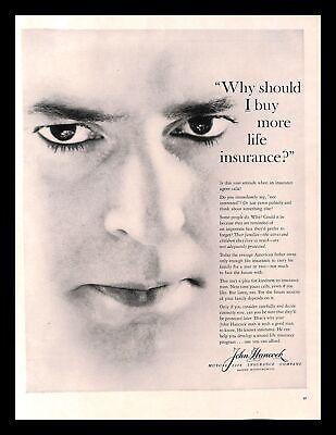 1960 John Hancock Mutual Life Insurance Company Vintage ...